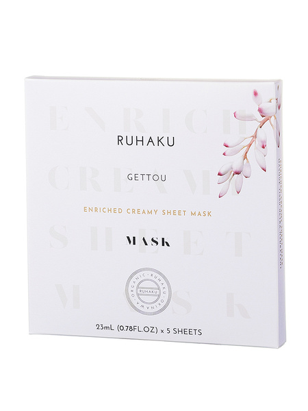【琉白】GETTOU ENRICHED CREAMY SHEET MASK 1箱5枚入り