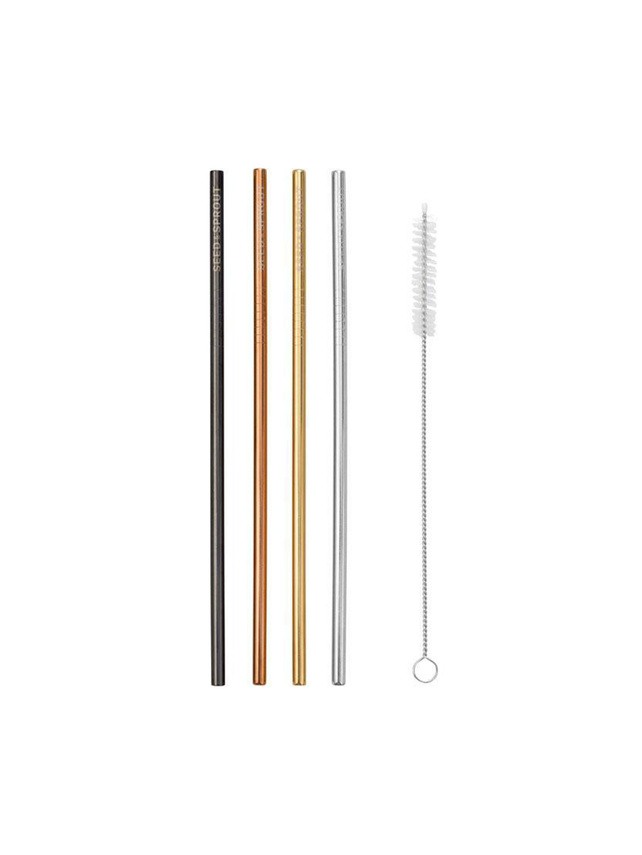 【SEED&SPROUT】STRAIGHT STRAWS-SET OF 4